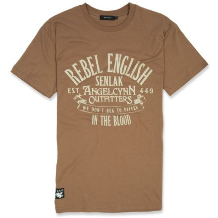 Senlak Rebel English T-shirt  - Chestnut